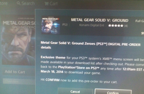 Instead of Peace Walker HD, North American Ground Zeroes preorders