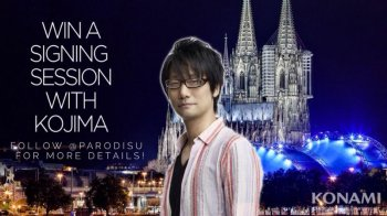Kojima is going to sign stuff after the gamescom gala but you'll need a ticket to see him