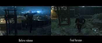 Fan compares animations from Ground Zeroes' final and pre-release versions