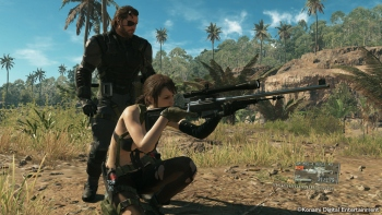 New MGSV screenshots from TGS 2014 show Snake buddy up with Quiet in Africa