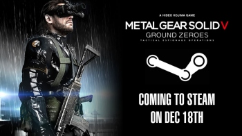 Release date for Ground Zeroes on Steam confirmed for December 18; will support 4K resolution