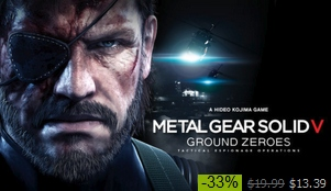 Ground Zeroes now available on Steam
