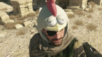 Konami says you are a chicken if you use the chicken hat in MGSV