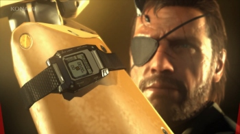 Here's Big Boss showing off that MGSV watch you can go out and buy