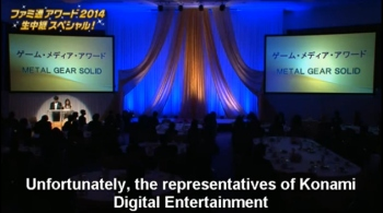 Kojima wins awards from Famitsu but nobody from Konami was there to pick them up