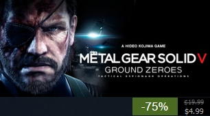 Ground Zeroes is $5 on Steam as