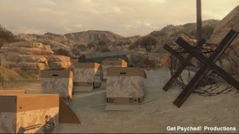 Here's a video of fans taking a break from killing each other in MGO for a cardboard box party