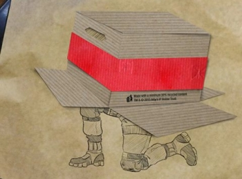 Arby's posts a depiction of a guy under a cardboard box on Facebook