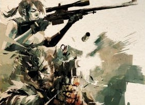 Here's the Ashley Wood art that comes with the limited edition of The Art of Metal Gear Solid V