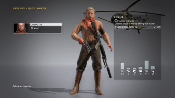 You can now play as Ocelot in MGSV FOB missions