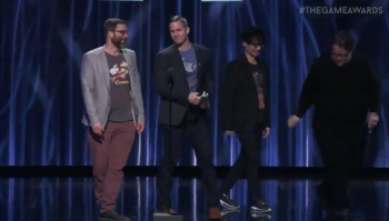 Watch Hideo Kojima and Guillermo del Toro present Cuphead the award for Best Art Direction